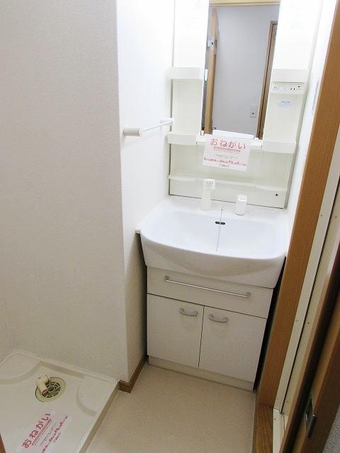 エバー グリーン 01020号室の洗面所