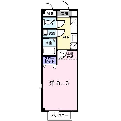 グレ-ス筥松・01030号室の間取り