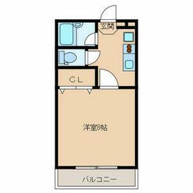 ベタニヤハウス・303号室の間取り