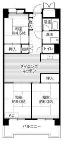 ビレッジハウス品川八潮タワー1号棟・0805号室の間取り