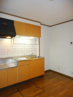 L・シャルマン A 01020号室のキッチン