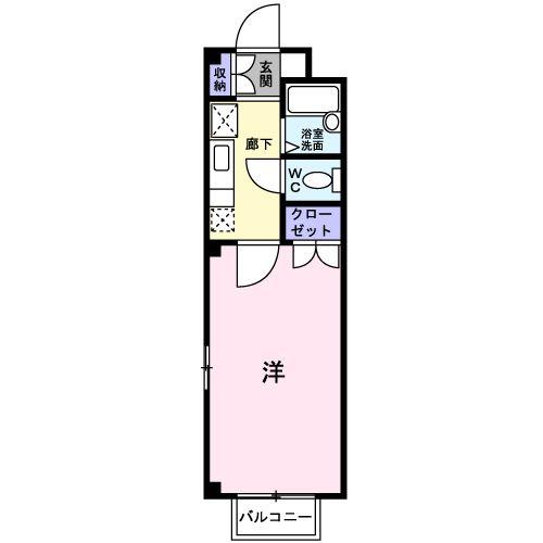 グリ-ンパ-ク水城B・02010号室の間取り