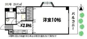オンフィールド横浜・101号室の間取り
