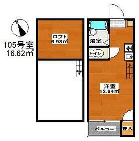 マキシム吉塚駅前・105号室の間取り