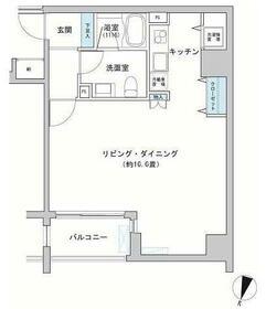 カッシア神田レジデンス・0808号室の間取り
