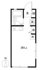 グランジャ横浜・107号室の間取り