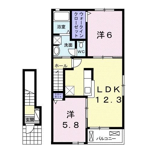 ソレアード糸島・02060号室の間取り