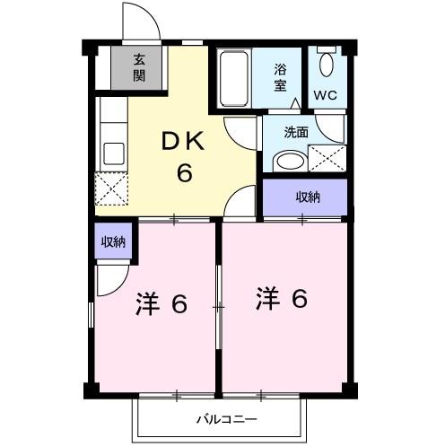 メゾンド・櫻・02040号室の間取り