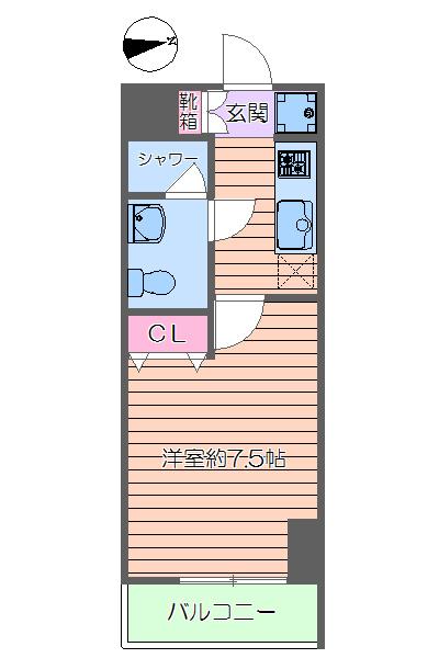 ルネスアヴニール・302号室の間取り