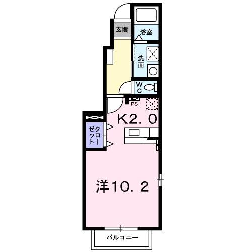 パルティ-レ Ⅰ・01010号室の間取り