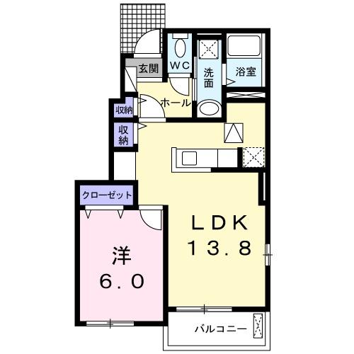 ラ・ルクシア・01010号室の間取り