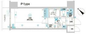フェニックス横浜関内BAY GAIA・506号室の間取り