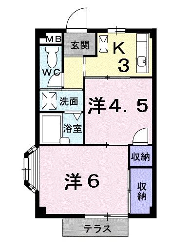 エルディムSUTO B・01040号室の間取り
