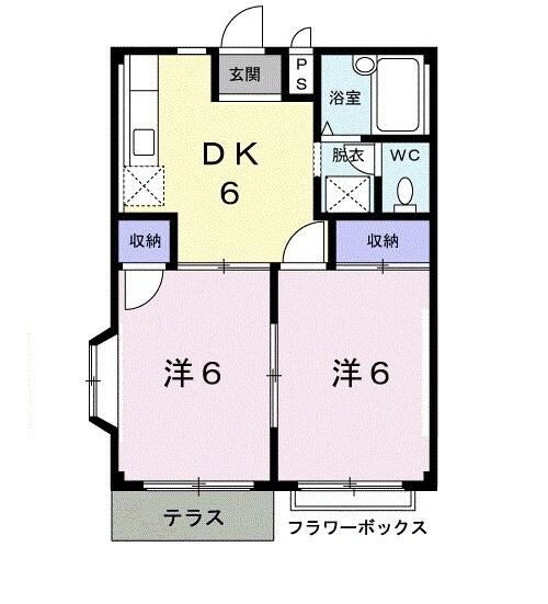 タムラハイツ・01050号室の間取り