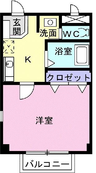 エスポアール宿・01040号室の間取り