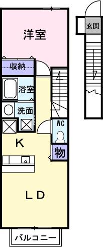 北寺尾レジデンス・02020号室の間取り