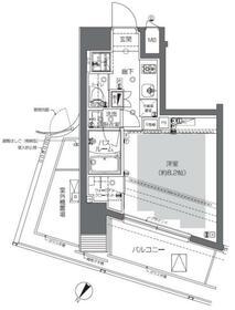 ZOOM渋谷神山町・801号室の間取り