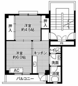 ビレッジハウス浜岡2号棟・0307号室の間取り