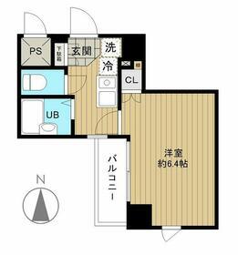 メインステージ日本橋箱崎II・405号室の間取り