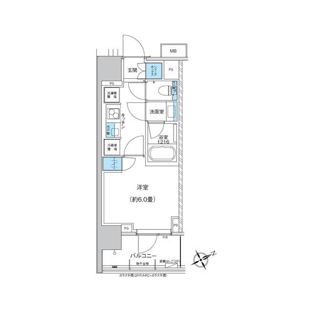 ザ・パークハウス浅草橋タワーレジデンス・201号室の間取り