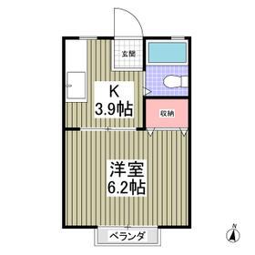 サンシティ江田D 201号室の間取り