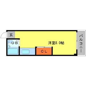 LIVE・0208号室の間取り