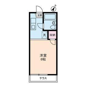 クレッセントハウス・0102号室の間取り