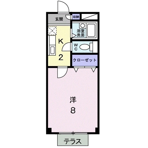 メゾンフル-ルB・01020号室の間取り