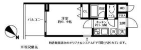 ロワール横浜レムナンツ・723号室の間取り