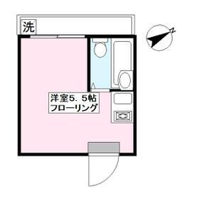 エクセル東長崎・202号室の間取り