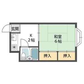CLEAR HOSHIGAOKA.Ⅱ・00311号室の間取り