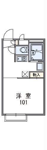 レオパレスMIYUKI・108号室の間取り
