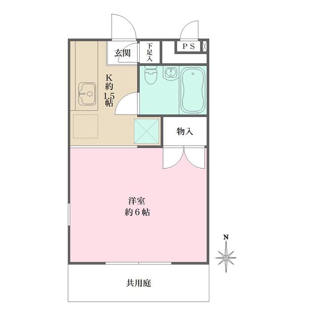 リッツハウス新宿・103号室の間取り
