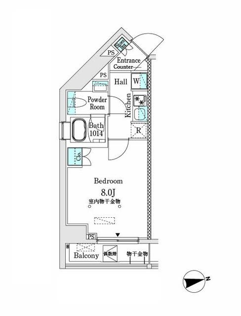 市谷仲之町ビューアパートメント・301号室の間取り