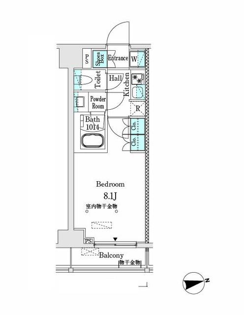 市谷仲之町ビューアパートメント・903号室の間取り