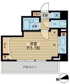 HF早稲田レジデンスⅡ・0305号室の間取り