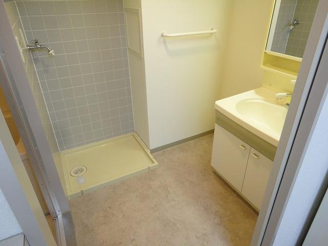 アリーバ 406号室の洗面所