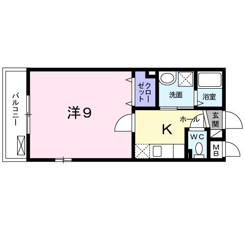 メゾン・ド・マハロ勧修・02030号室の間取り