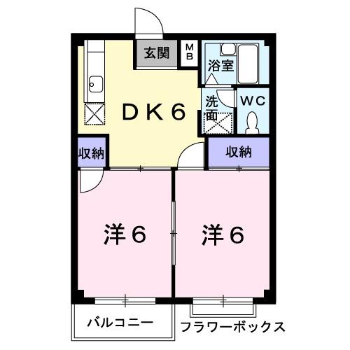 エルディム笹島・02040号室の間取り