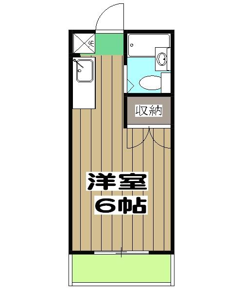 ハイツ松本・405号室の間取り
