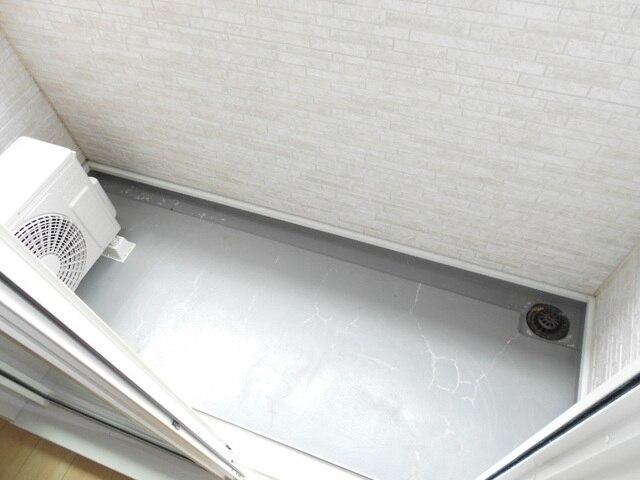 ファミール木幡 01060号室のバルコニー