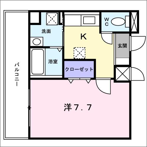 ノーブルコート万寿寺・04030号室の間取り