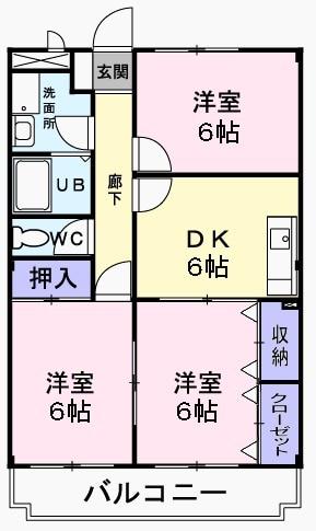 メゾン加美平・03020号室の間取り