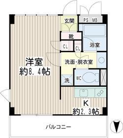 豊岡旭フーガ・0B305号室の間取り