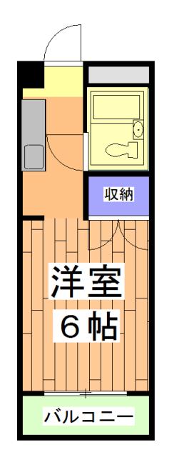 シャルム小松原・206号室の間取り