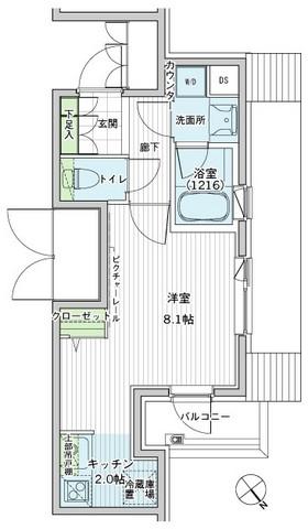 アーバス新宿余丁町・310号室の間取り