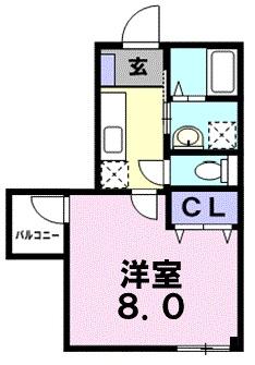 サニ-タウン・02020号室の間取り