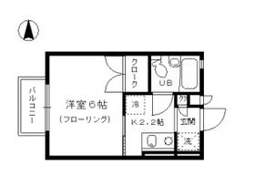 ドゥ・ライフ壬生川・202号室の間取り