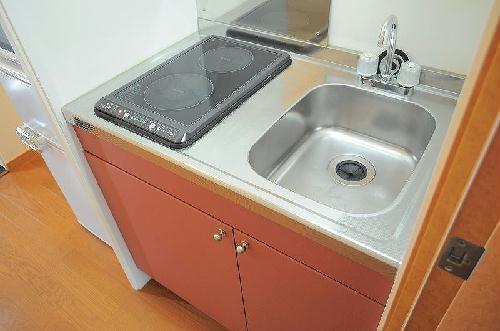レオパレスアルモニ2番館 201号室のキッチン