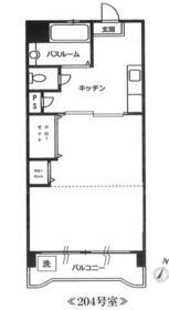 大晃サンハイムA・204号室の間取り